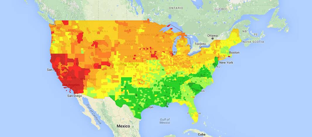 usa gas map