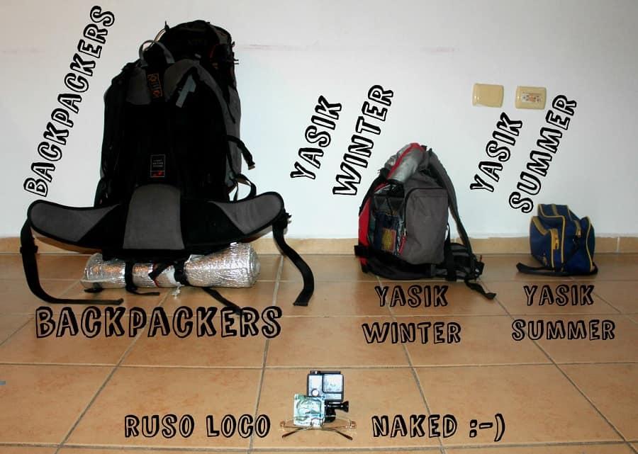ruso loco backpacker