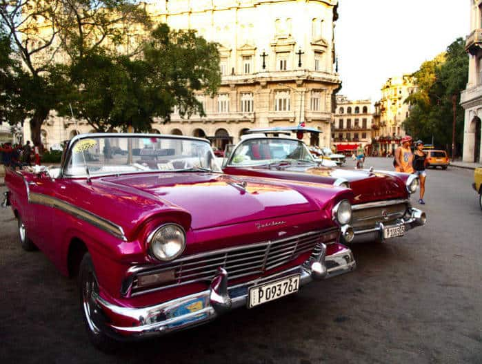 old american taxi cuba