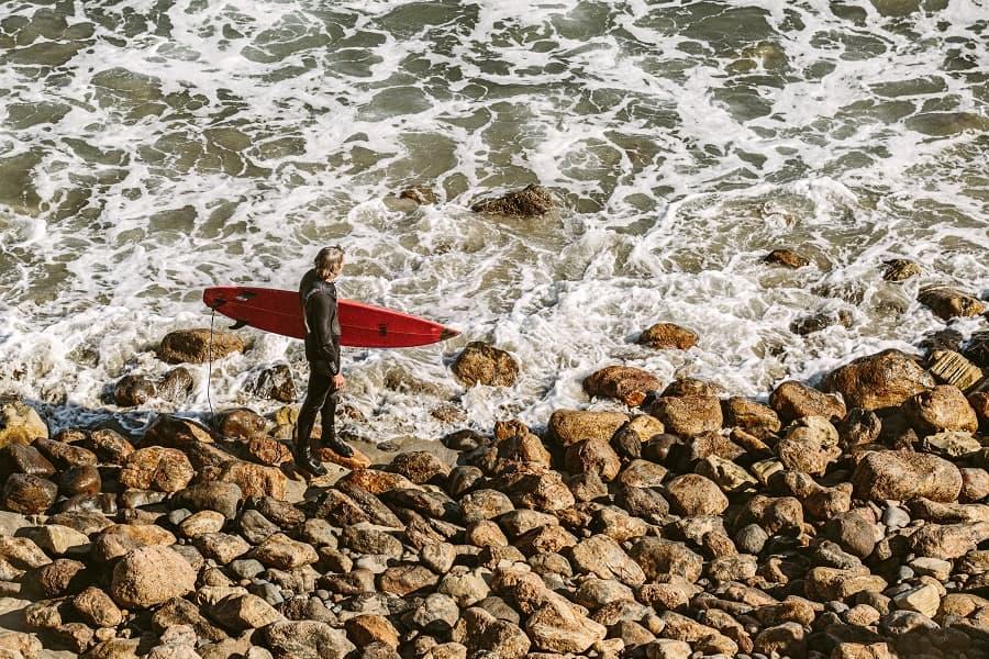 healthy surfer